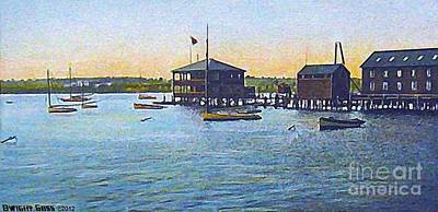 Painting - The Yacht Club In Fall River Ma In 1910 by Dwight Goss
