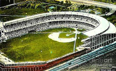 Painting - The Yankees' Polo Grounds In New York City In The 1920's by Dwight Goss