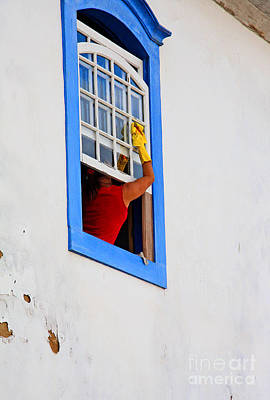 Photograph - The Window Cleaner by Nareeta Martin