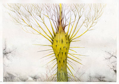The Yellow Plant Print by Bjorn Eek
