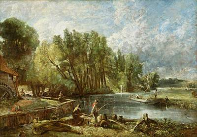 John Constable Painting - The Young Waltonians - Stratford Mill by John Constable