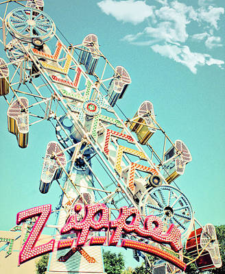 Zipper Photograph - The Zipper Carnival Ride by Eye Shutter To Think
