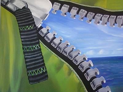 Zipper Painting - The Zipper by Eibeen Colon