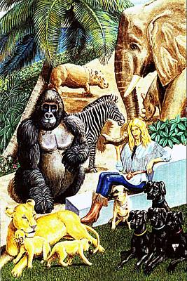 Painting - The Zoo by George I Perez