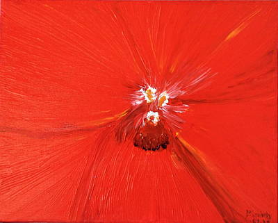 The Zoom Of Red Orchid Art Print by Pretchill Smith