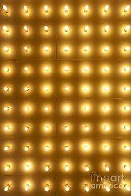 Photograph - Theater Lights In Rows by Paul Velgos
