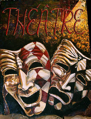Theatre Masks Comedy And Tragedy Art Print by Martha Bennett