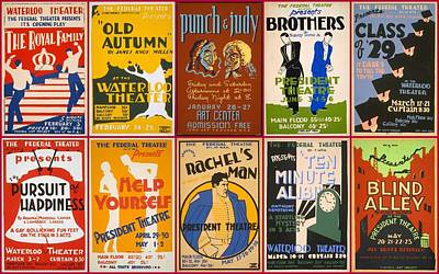 Theatre Posters Of The 1930s And 1940s Art Print by Don Struke