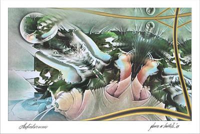 Digital Art - Thefirstwoman 2003 by Glenn Bautista