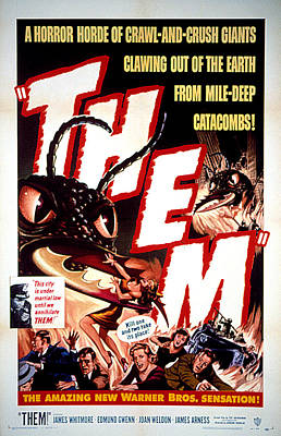 1954 Movies Photograph - Them 1954, Poster Art by Everett