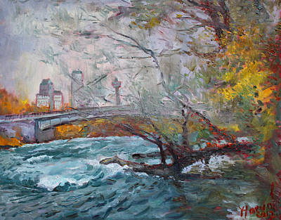 Canada Landscape Painting - ....then The Rain Started by Ylli Haruni