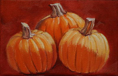 Then There Were Three Art Print by Linda Eades Blackburn