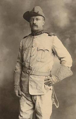 Theodore Roosevelt In The Uniform Of An Art Print