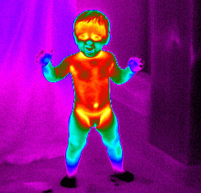 Thermogram Of A Baby Art Print