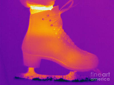 Thermographic Photograph - Thermogram Of An Ice Skate by Ted Kinsman