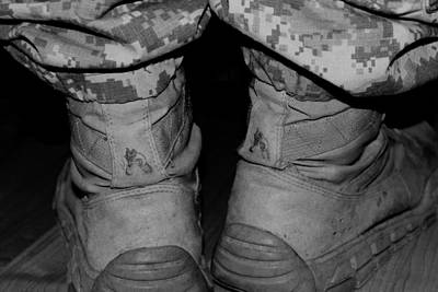 Photograph - These Boots Are Finally  Home by Elizabeth  Doran
