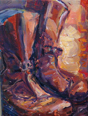 Painting - These Boots by Nanci Cook