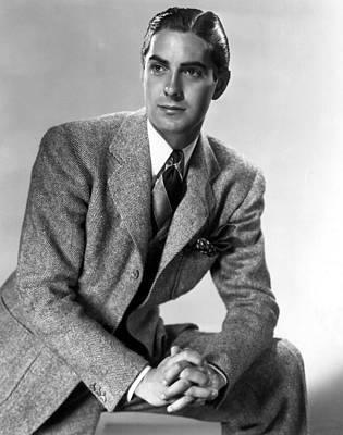 1937 Movies Photograph - Thin Ice, Tyrone Power, 1937 by Everett