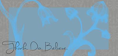 Think Blue Art Print
