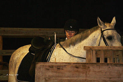 Photograph - Thinking About The Dressage Lesson by Roena King