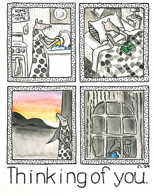 Bed Quilts Drawing - Thinking Of You by Heart-Led Woman