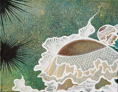 Thinking Urchin  Art Print by Julia  Kropinova