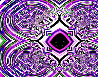 Photograph - Third Eye Zen - A Mandala Paintograph by Christine S Zipps