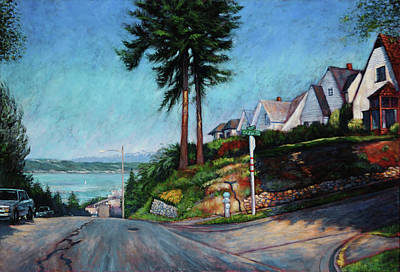 Art Print featuring the painting Thirtieth And Cedar  by Charles Munn