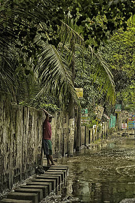 This Is The Philippines No.57 - Guess Im Gonna Get Wet Feet Art Print by Paul W Sharpe Aka Wizard of Wonders