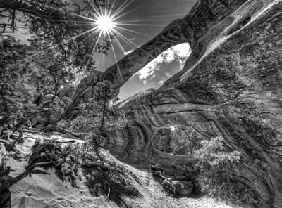 Double O Arch Photograph - This Is Utah No. 17 - Double O Arch Sunburst by Paul W Sharpe Aka Wizard of Wonders