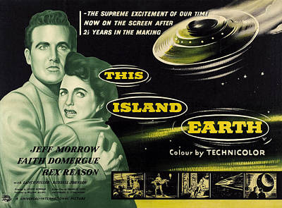 1955 Movies Photograph - This Island Earth, L-r Rex Reason by Everett