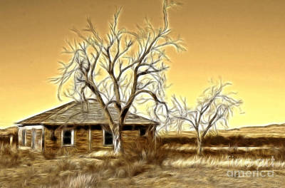 Photograph - This Old House Fractal by Donna Greene