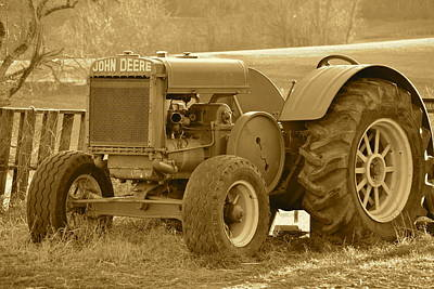 Photograph - This Old Tractor by JD Grimes