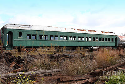 This Old Train Has Seen Better Days . 7d8994 Art Print by Wingsdomain Art and Photography