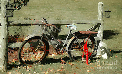 Photograph - This Old Vintage Bike  by Peggy Franz