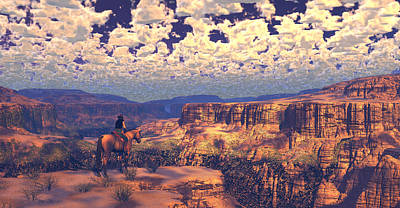 Grand Canyon Digital Art - This Tattered Land by Dieter Carlton