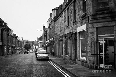 Thistle Street Rows Of Granite Houses And Shops Aberdeen Scotland Uk Art Print by Joe Fox