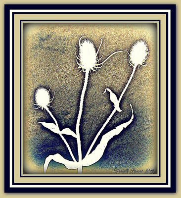 Thistles Grouping Art Print by Danielle  Parent