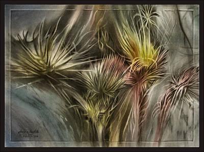 Pastel - Thistlescape 2009 by Glenn Bautista