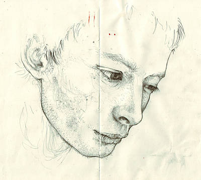 Thom Yorke Drawing - Thom Yorke by Christina Khachatryan