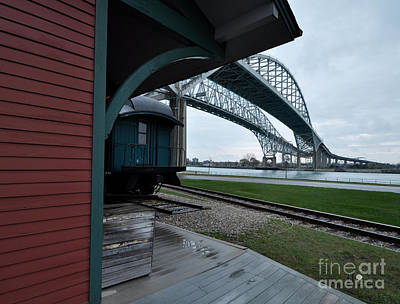 Photograph - Thomas Edison Depot And Blue Water Bridges 2012 by Ronald Grogan