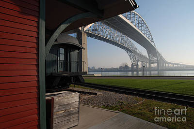 Photograph - Thomas Edison Depot And Blue Water Bridges by Ronald Grogan