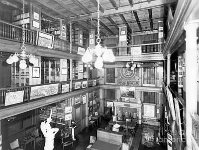 Invention Of Motion Photograph - Thomas Edisons Library by Science Source