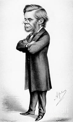English Bulldog Drawing Photograph - Thomas Huxley, English Biologist by Photo Researchers
