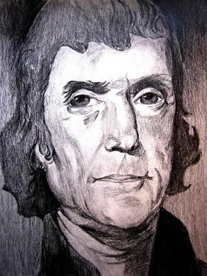 Thomas Jefferson Drawing - Thomas Jefferson by Chris Martinez