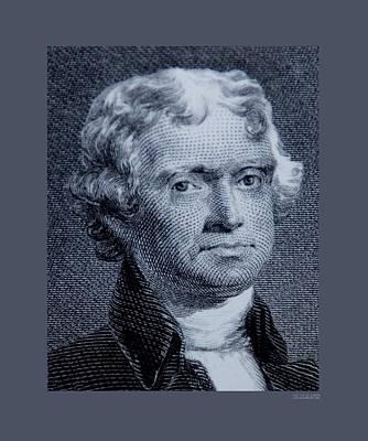Potus Digital Art - Thomas Jefferson Original by Rob Hans