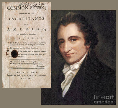 Thomas Paine And Common Sense Print by Photo Researchers