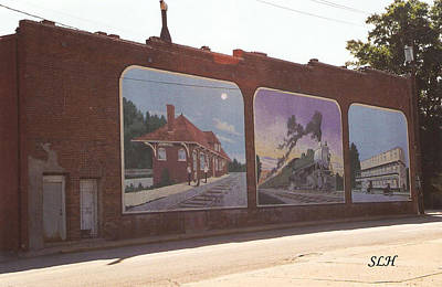 Photograph - Thomasville Painted Wall by Lee Hartsell