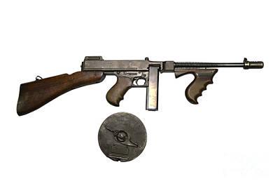 Thompson Model 1928 Submachine Gun Art Print by Andrew Chittock