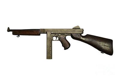 Thompson Model M1a1 Submachine Gun Art Print by Andrew Chittock